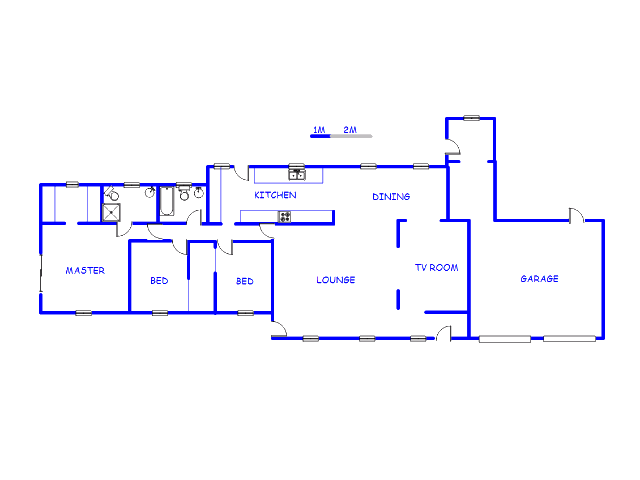 Floor plan of the property in Eikenhof