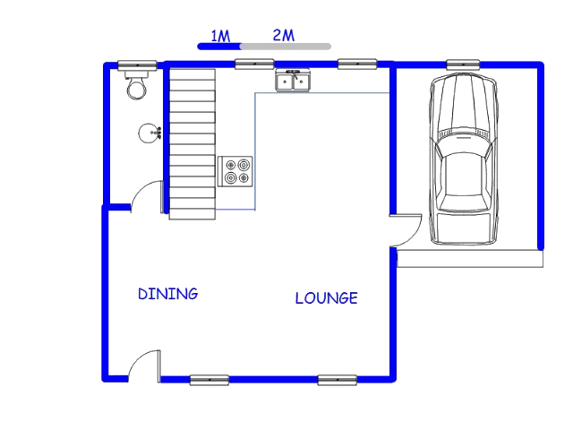 Floor plan of the property in Middelburg - MP