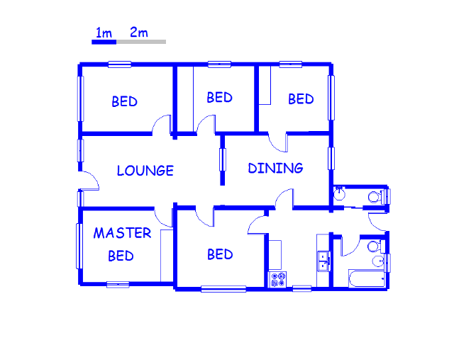 Floor plan of the property in Duffs Road