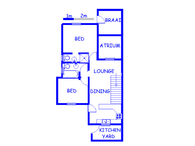 Floor plan of the property in Bedford Gardens