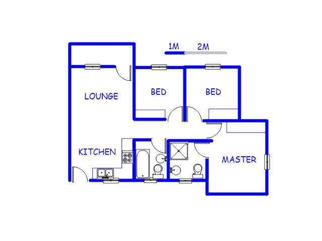 Floor plan of the property in Bedworth Park