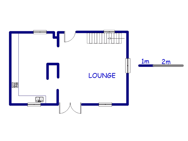 Floor plan of the property in Dennemere
