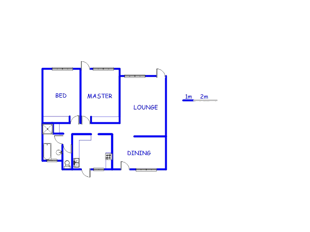 Floor plan of the property in Bramley