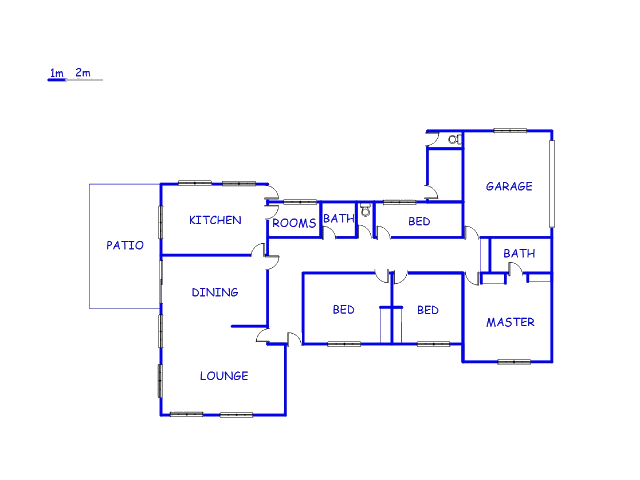 Floor plan of the property in Fouriesburg