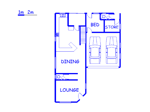 Floor plan of the property in Arena Park