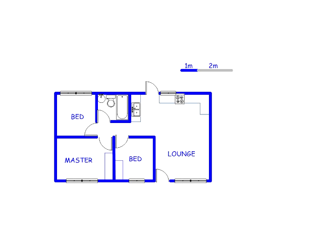 Floor plan of the property in Lenasia South