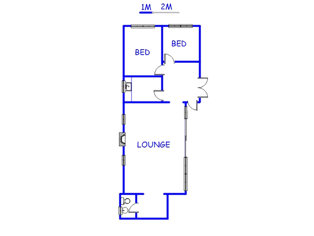 Floor plan of the property in Alphenpark