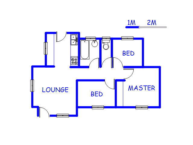 Floor plan of the property in Roodekop