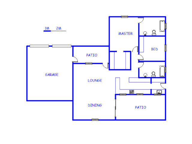 Floor plan of the property in Melodie