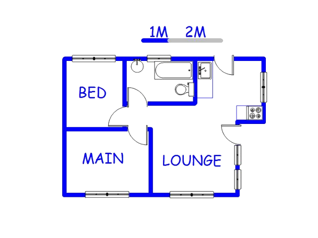 Floor plan of the property in Soshanguve