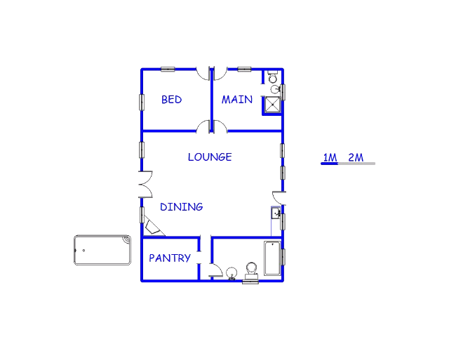 Floor plan of the property in Redelinghuys