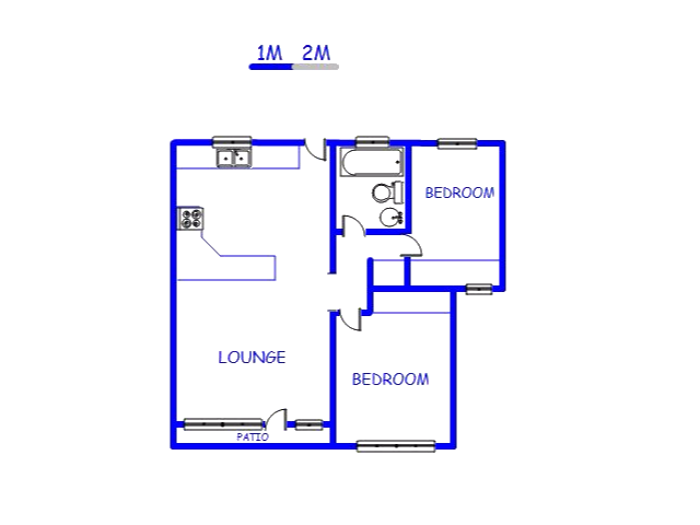 Floor plan of the property in Montclair