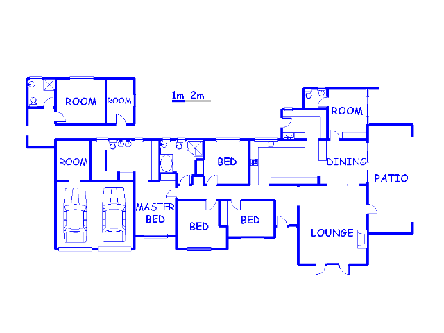 Floor plan of the property in Atholl Heights