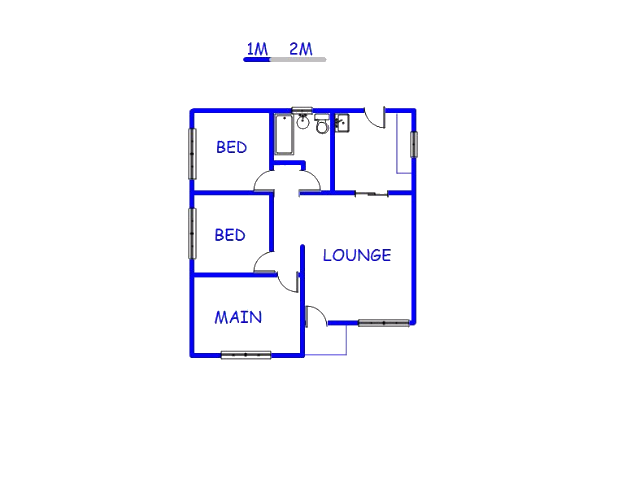 Floor plan of the property in Umtata