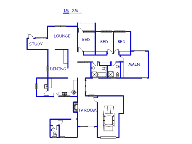 Floor plan of the property in Secunda