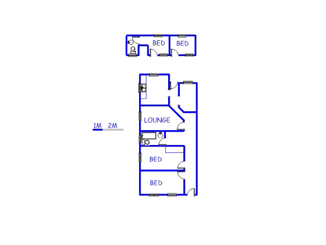 Floor plan of the property in Jeppestown
