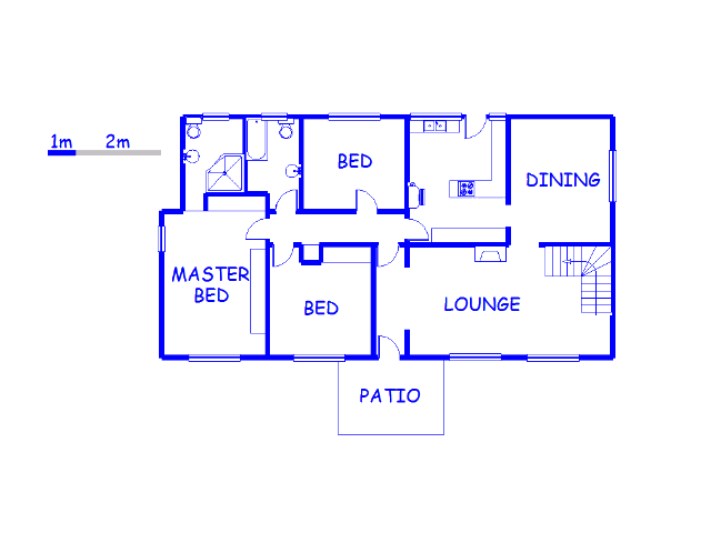 Floor plan of the property in Belfort