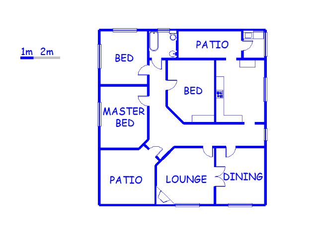 Floor plan of the property in Philippolis