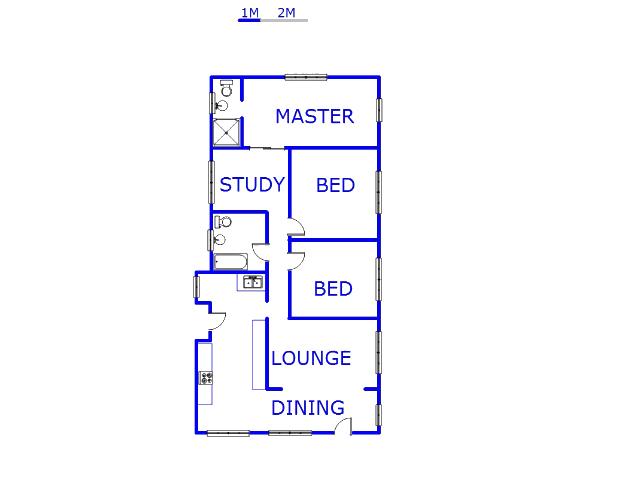 Floor plan of the property in Bosmont