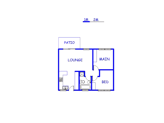 Floor plan of the property in Elarduspark