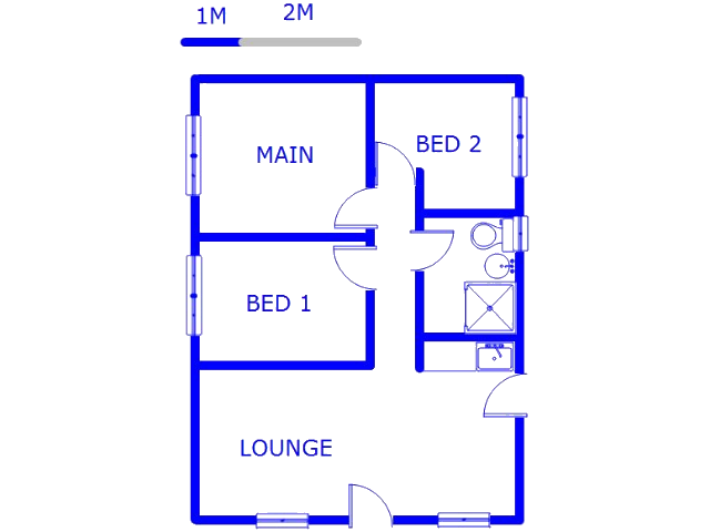 Floor plan of the property in Marburg