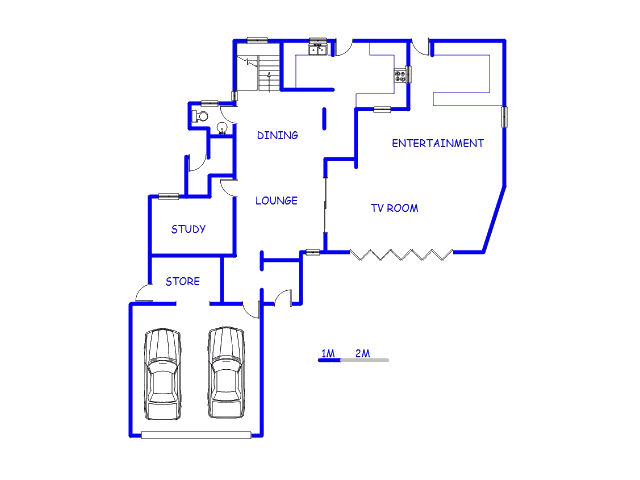 Floor plan of the property in Silver Lakes Golf Estate
