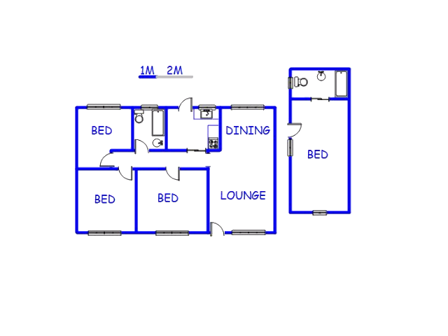 Floor plan of the property in Forest Glade