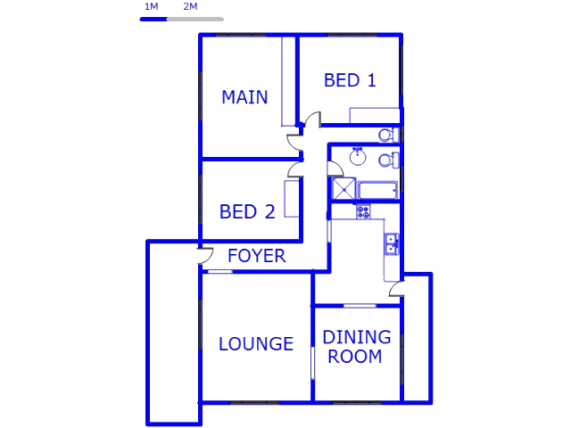 Floor plan of the property in Mount Vernon