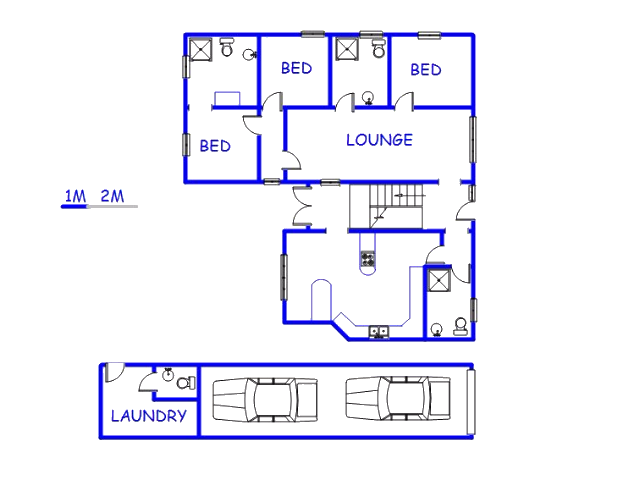 Floor plan of the property in Stilbaai (Still Bay)