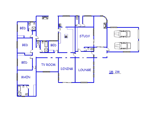 Floor plan of the property in Virginia - Free State