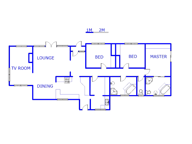 Floor plan of the property in Carletonville