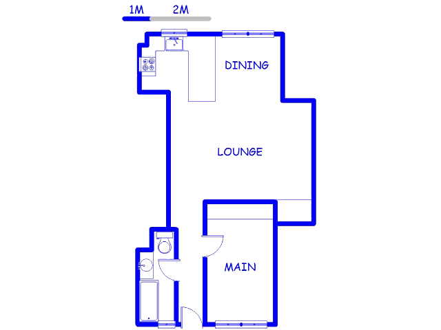 Floor plan of the property in South Beach
