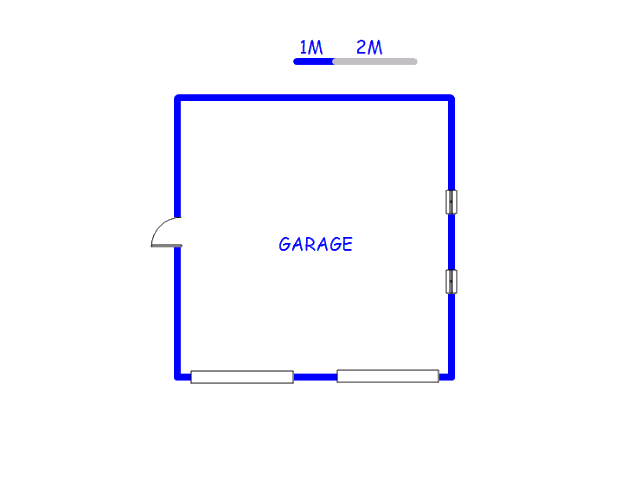 Floor plan of the property in Waldrift