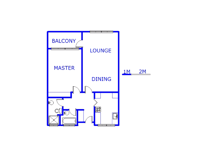 Floor plan of the property in Rouxville - JHB
