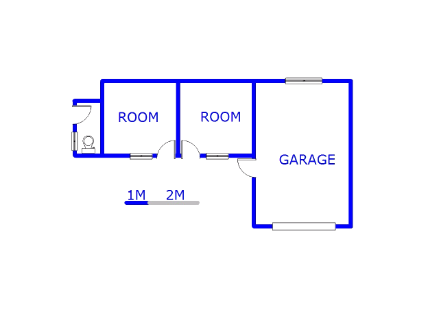 Floor plan of the property in Kaalfontein