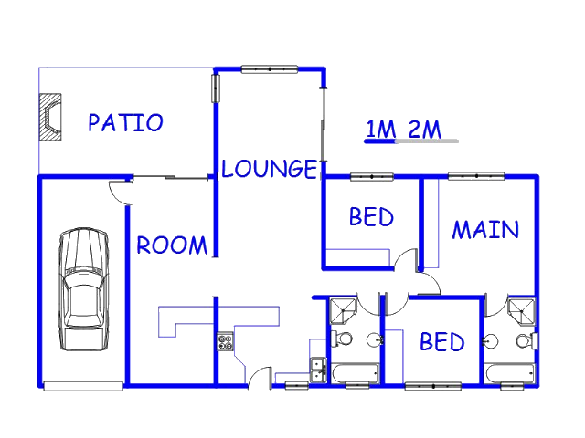 Floor plan of the property in Amberfield