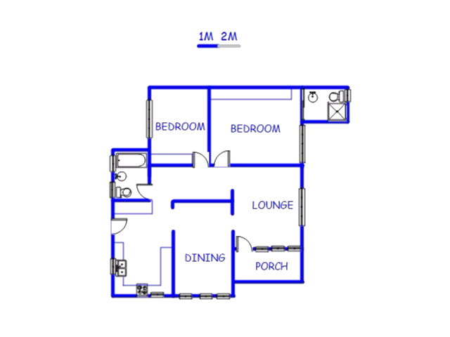 Floor plan of the property in Northdale (PMB)