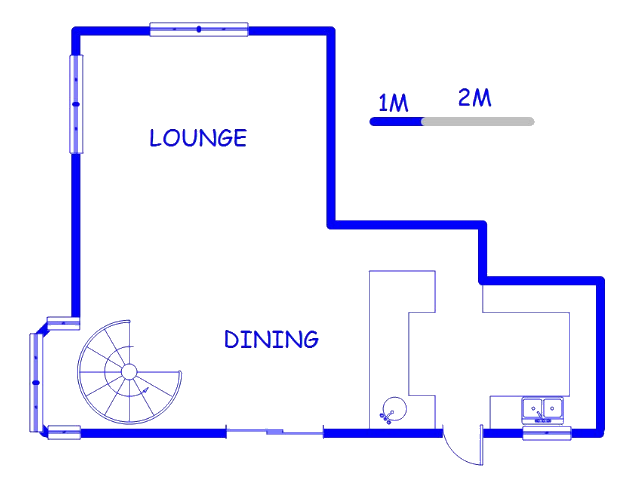 Floor plan of the property in Sea Cow Lake