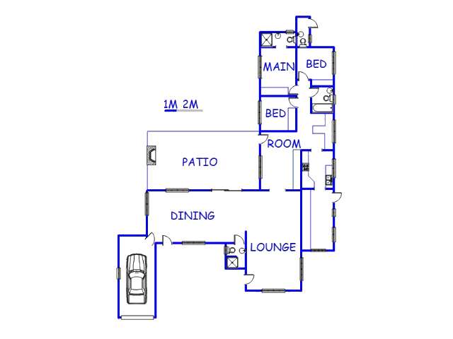 Floor plan of the property in Doornpoort