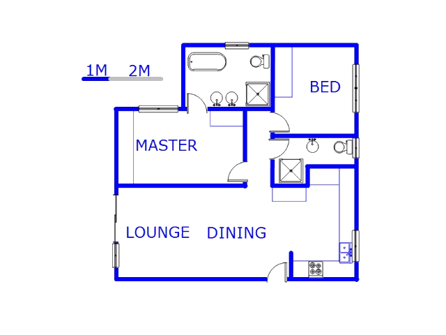 Floor plan of the property in Pomona