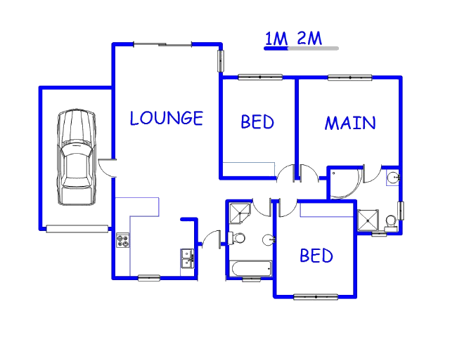 Floor plan of the property in Country View