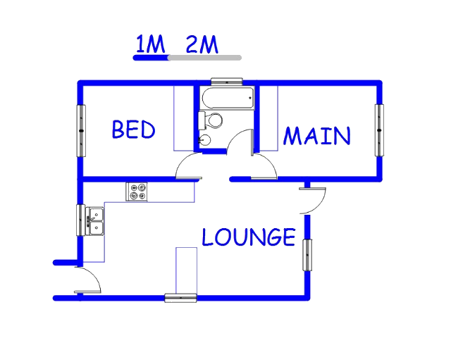 Floor plan of the property in Heatherview