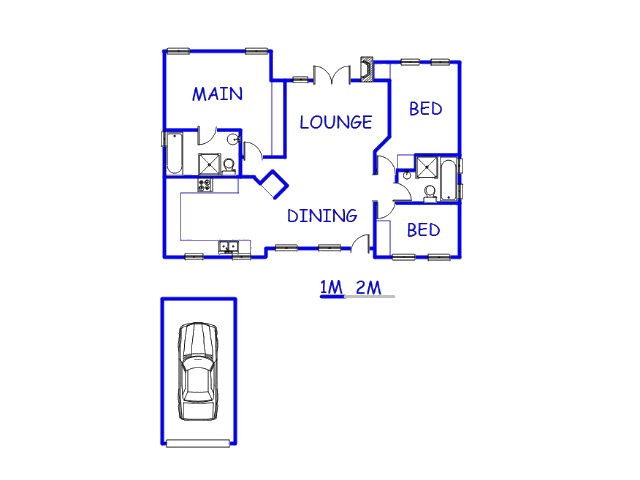Floor plan of the property in Magalieskruin
