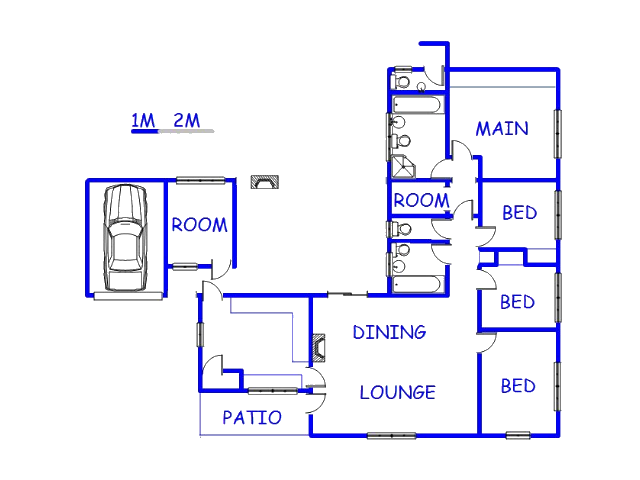 Floor plan of the property in WILLEMSDAL