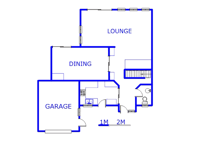 Floor plan of the property in Parkmore
