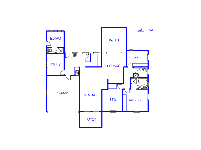 Floor plan of the property in Meer En See