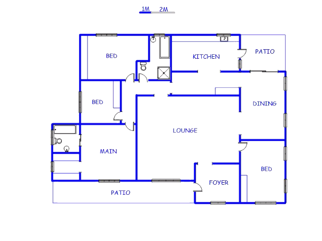 Floor plan of the property in Ladysmith