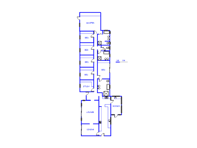 Floor plan of the property in Daggafontein