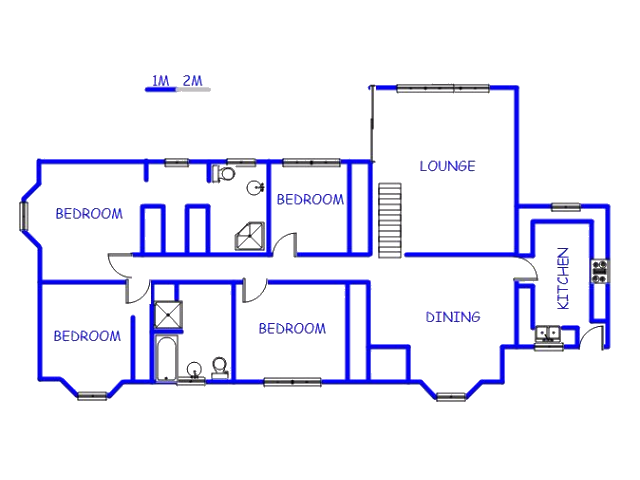 Floor plan of the property in Mountain Ridge