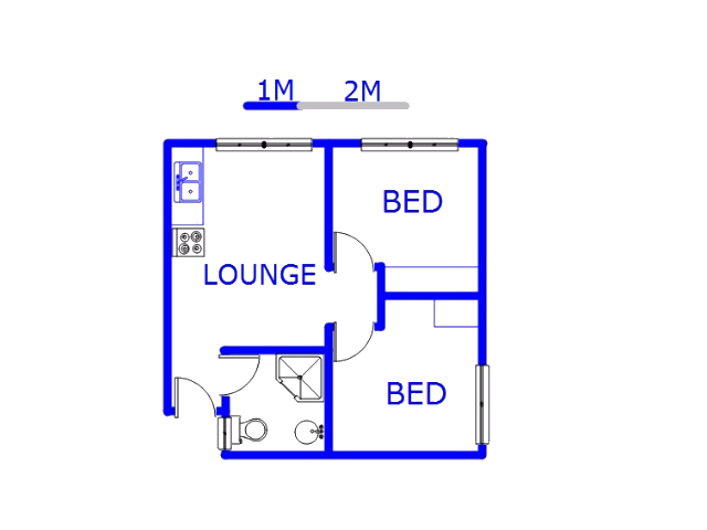 Floor plan of the property in Jabulani